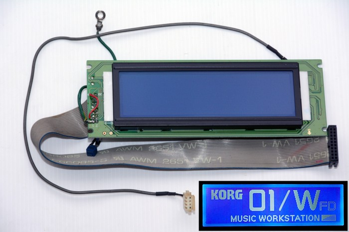New modified LCD for Korg 01/Wfd